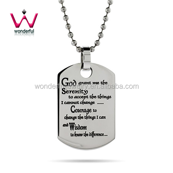 Engravable Serenity Prayer Dog Sex Eu Video Tag Adilia Necklace Jewelry Pendant