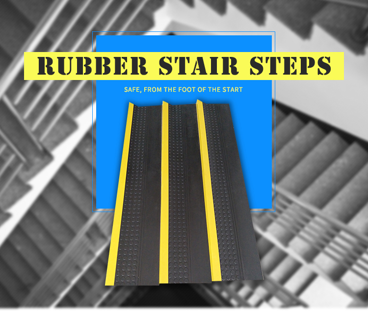 No Odor Stair Nosing Rubber Edge Protection ,Black External Stair Treads