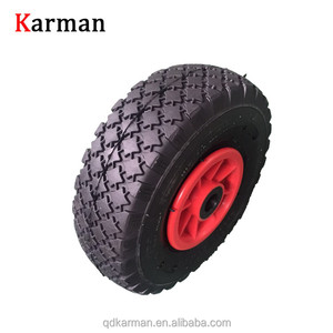 10 inch Wheelbarrow Wheel Flat Free Tire 300-4 PU Foam Wheels