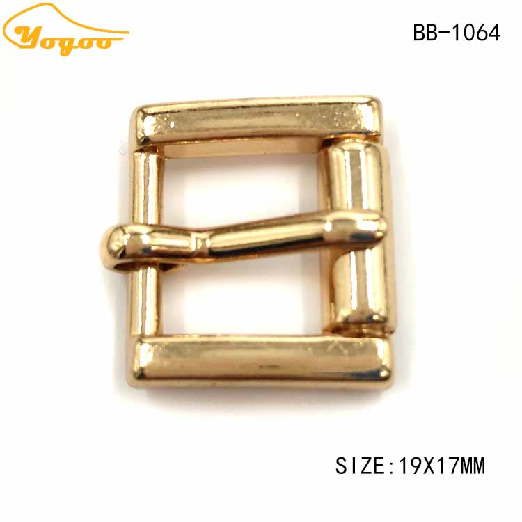 Eco-friendly Custom Engraved Logo Small Gold Metal Belt Buckles for Shoes