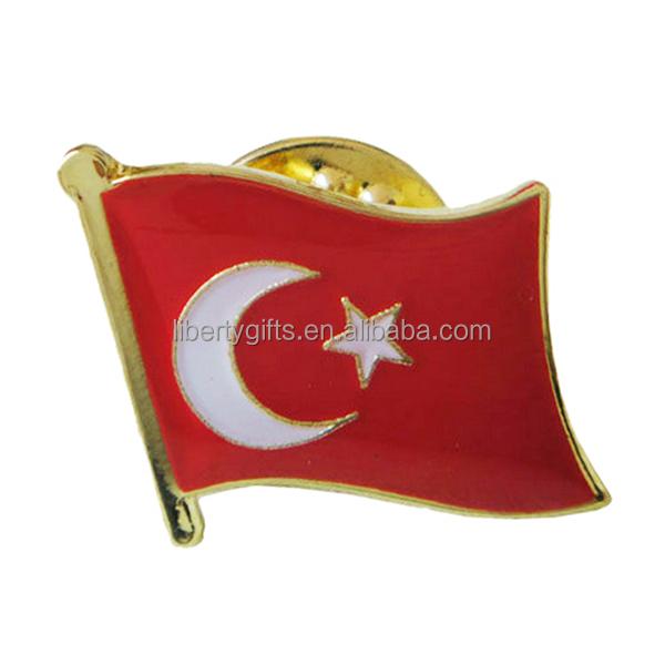 TURKEY  Country Flag Metal lapel PIN BADGE ..NEW