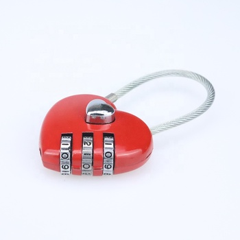 Heart Shaped Luggage Cute Small Locks Zinc Alloy Material Combination Accessories Padlock