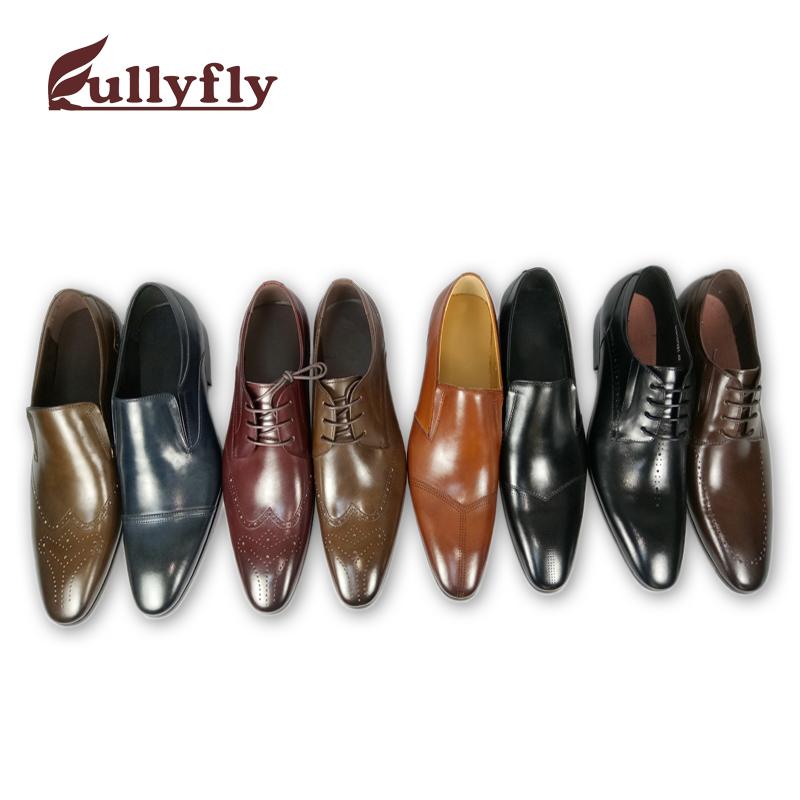 cow shoes dress genuine leather leather shoes shoes men C0q6rCw
