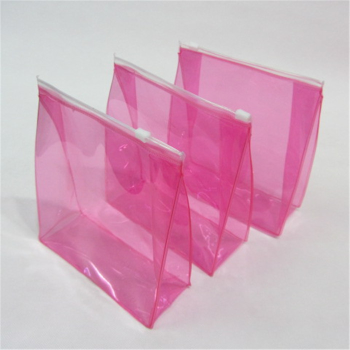 China factory transparent small pvc waterproof heat seal zip lock pouch