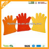 Colorful high quality heat and water resistant silicone glove with 5 finger
