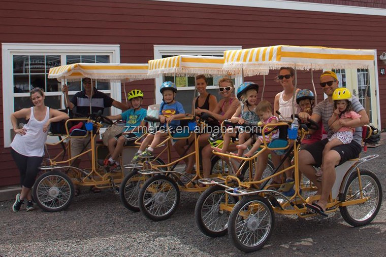 China Cheap Pedal Quadricycle Bike Tour Rental Tandem Surrey