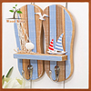 Marine Style Coloured Drawing Slippers Metope Resin Decorative Hook Home Furnishing Articles Hanging Wall Wood Hook