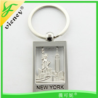New Designs 2015 Custom New York Metal Keychain