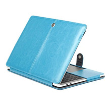 crazy horse pattern leather protective cover for Macbook pro 13.3 new model