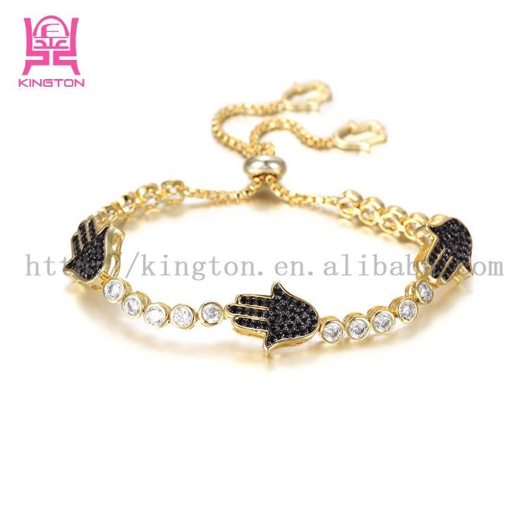 Fashion Zirconia Hand Gold Bracelet Design For Girls - Buy Hand ...