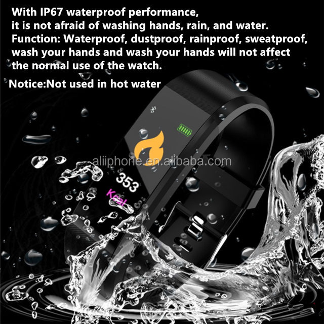 Hot selling android waterproof watch for D115 plus smart phones watch
