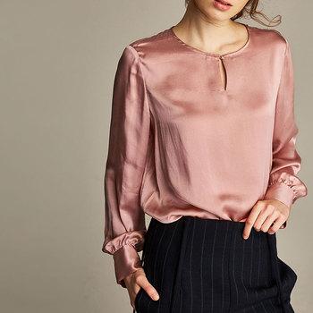 c7a3cffb0a376 Luxury Silk Satin Blouse Women Fashion Trending Blouses - Buy ...