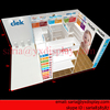 6x9 meters trade show stand for baby products with display shelf wall, Clerk stand exhibition system offered by Saria