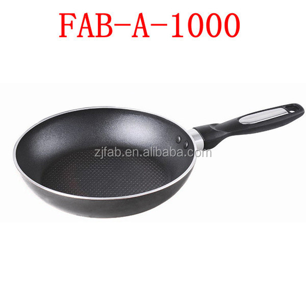 Black Aluminum Non-stick Euro Ceramic Fry Pan With Soft Handle