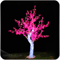 Xmas Decoration LED Light Cherry Blossom Artificial Tree