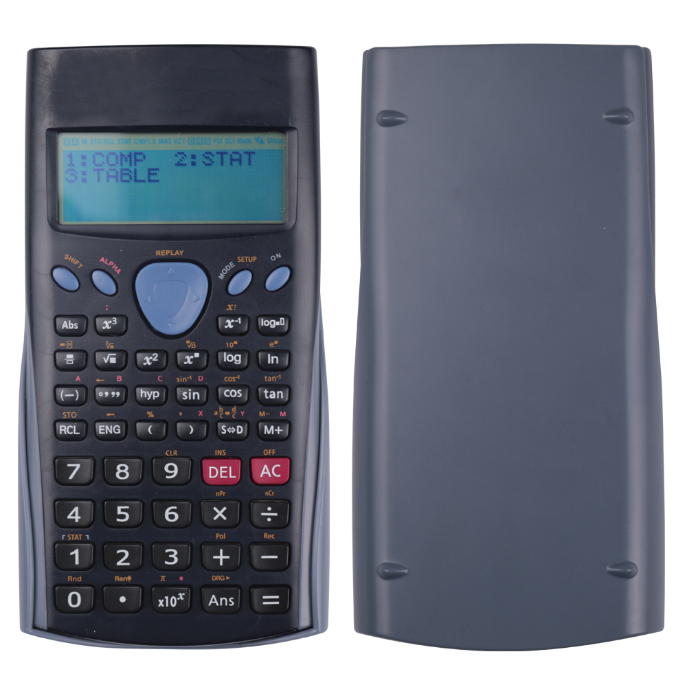 Custom School Multifunctionele Lcd-scherm Elektronische Scientific Calculator voor Student met Cover