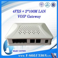 4 FXS port ata sip voip fxo gateway with 2 ethernet ports