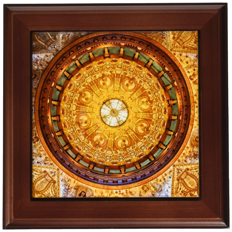 """3dRose ft_209125_1 USA, Florida, St Augustine, Flagler College, Hotel Ponce De Leon Framed Tile, 8 by 8"""""""