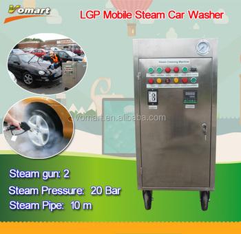 Ce 20 Bar Two Steam Gun Lpg Mobile Dry Steam Car Wash/steam Optima ...