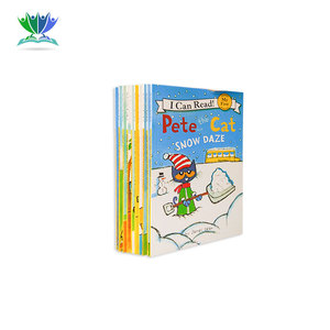 6 pcs/set I Can Read pete the cat English Picture Books Children story book Early Educaction pocket reading book