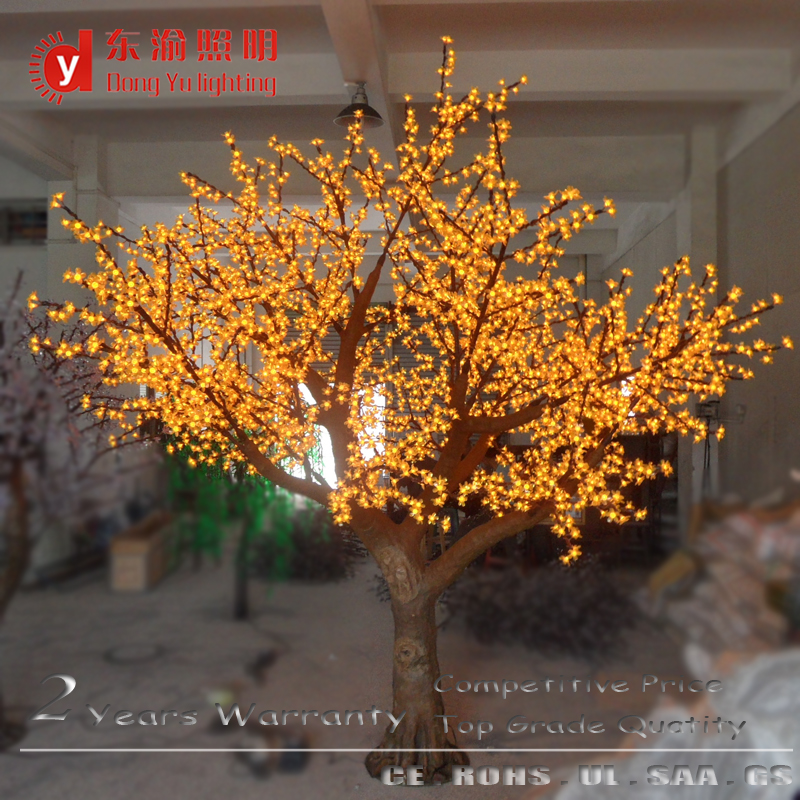 3072 LEDs yellow color artificial outdoor branches cherry blossom tree with light