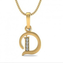 2014 latest hot selling fashion stainless steel alphabet pendant inital letter d pendant jewelry D2-0071