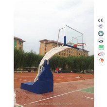 Height adjustable indoor standard basketball hoop hydraulic stand