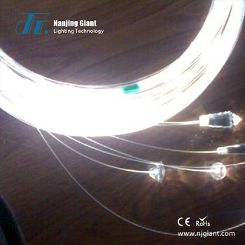 star twinkling point side glow lighting plastic optical fiber cable