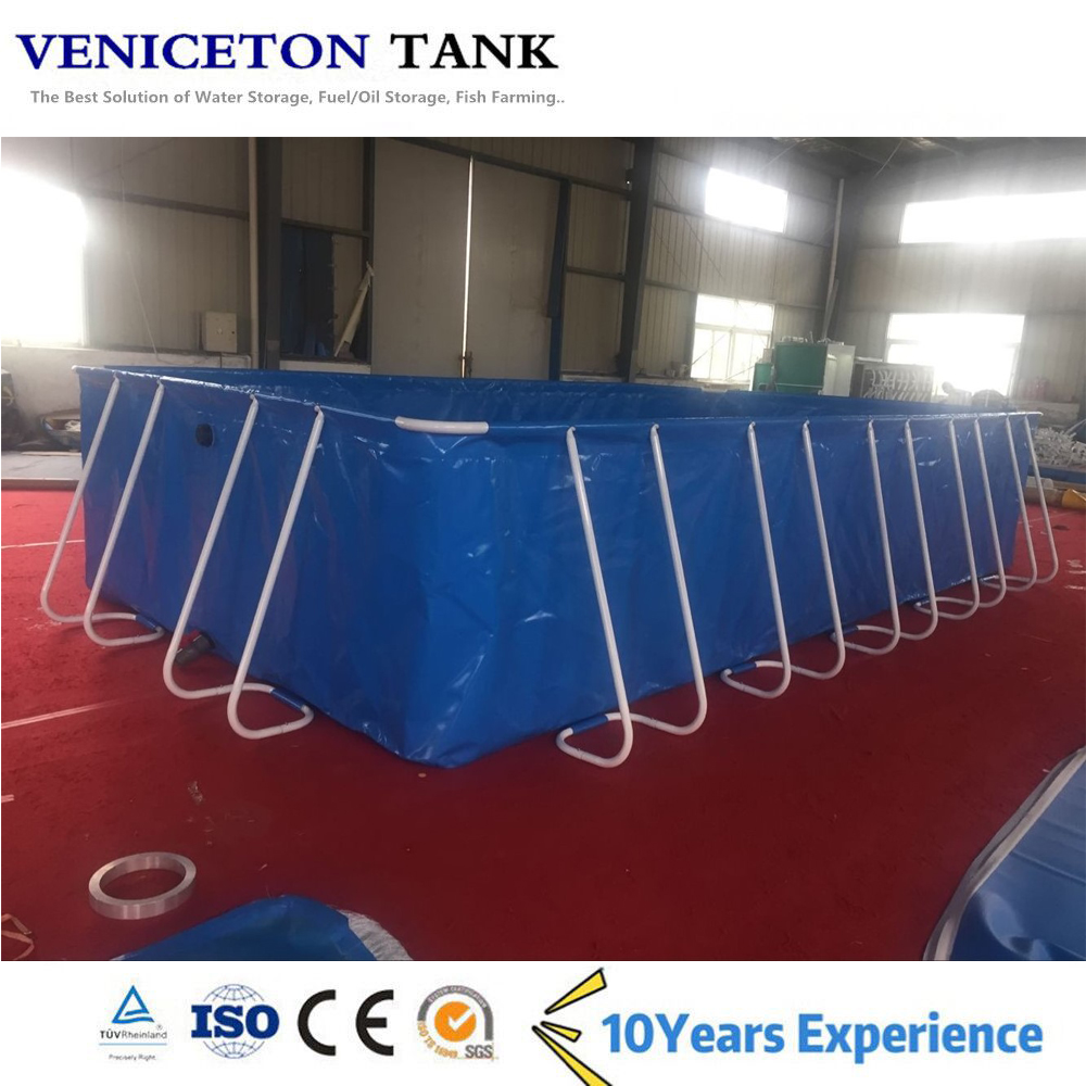 Veniceton flexible rectangle pond inflatable swimming pool