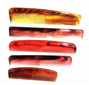 salon tool magic durable hair ring comb tortoise shell color flat comb mixed color comb