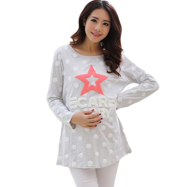 2d6307b25d335 Get Quotations · Cotton Maternity T shirt for Pregnant Women Pregnancy  Clothes for Pregnant Women Cute Maternity Blouse Blouses