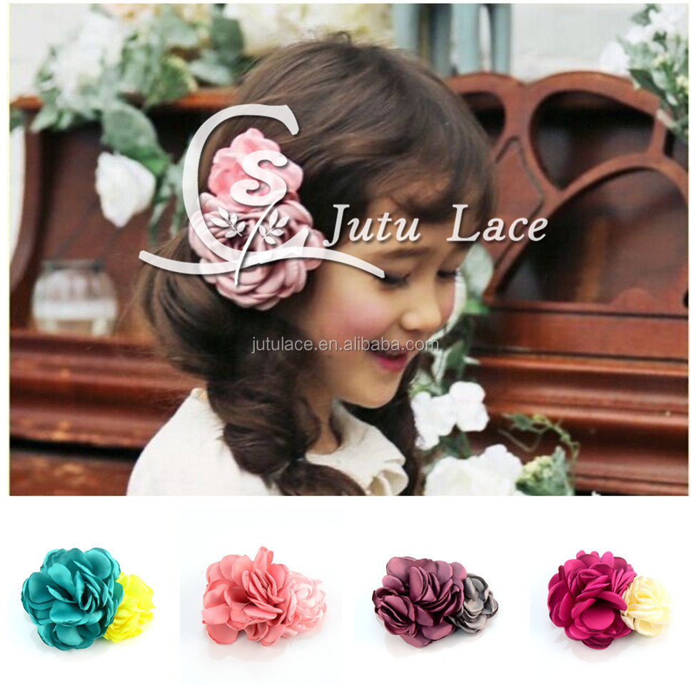 Hot blast new hand grilled side flower hairpin girls BB combination clip children headdress 10 colors