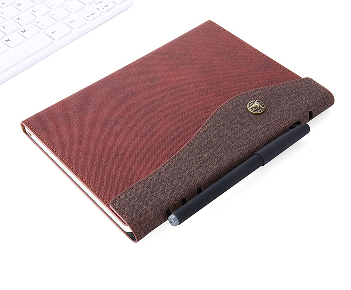 Popular New Model Souvenir Notebook Personalized A5 Imitation Leather Notebook For Award Ceremony
