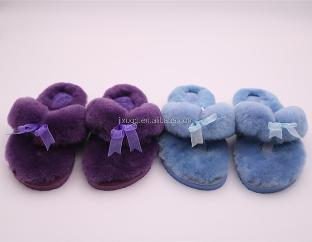 fee samples Shearling wool TPR Sole PVC soft sole indoor slippers