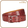crocodile embossed business pure leather belt genuine leather belt for men