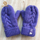 Baby mittens Knitted purple baby/toddler hand warmers