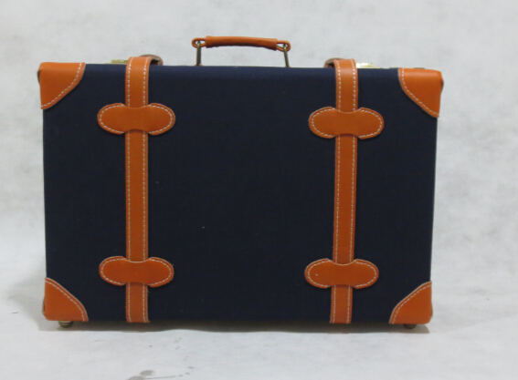 vintage PU leather carryon case/ organizer /travel suitcase