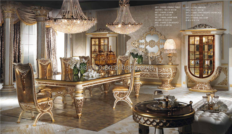 Itali barokke paleis stijl eetkamer set prachtige massief houtsnijwerk marqueterie inlegwerk - Dining barokke ...