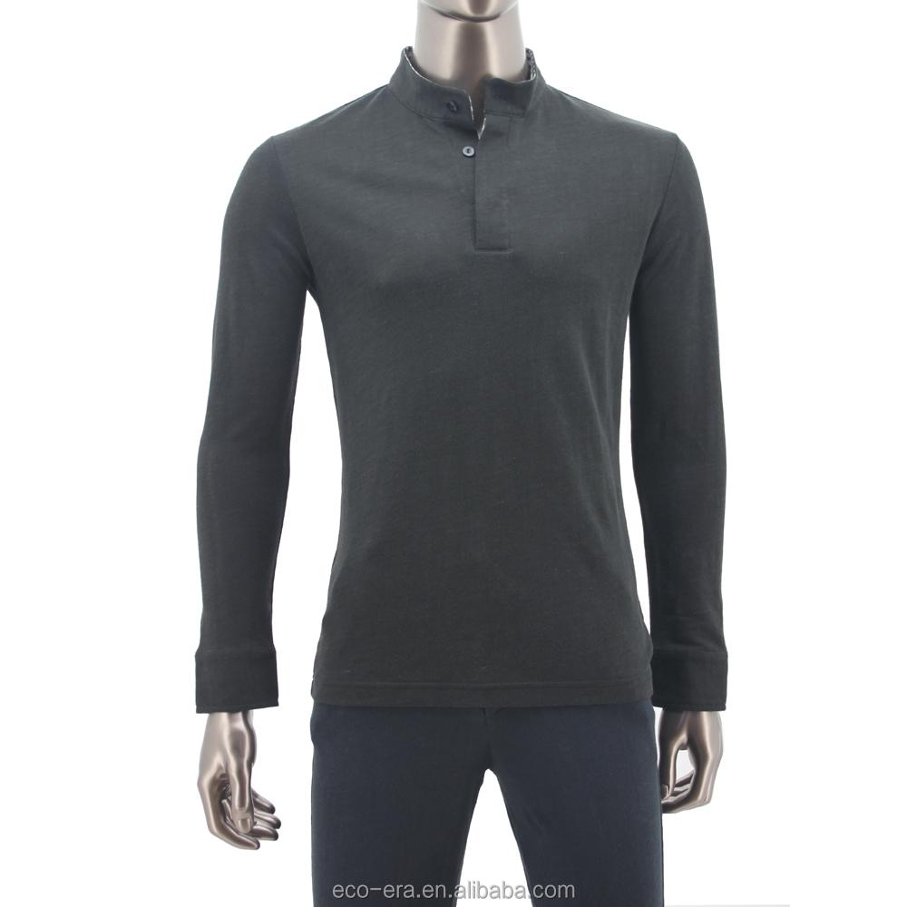 100% Wholesale Hemp Clothing Man Longsleeve Polo Shirt ...