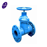 8 inch water flanged gate valve price with wheel handle