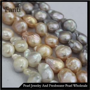 cheap 12mm Baroque pearl necklace baroque freshwater pearl