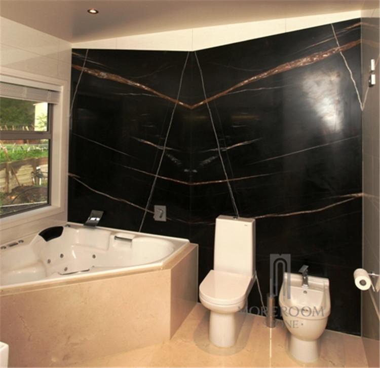 Piastrelle di marmo noir sahara sahara noir marmo nero con - Piastrelle di marmo ...