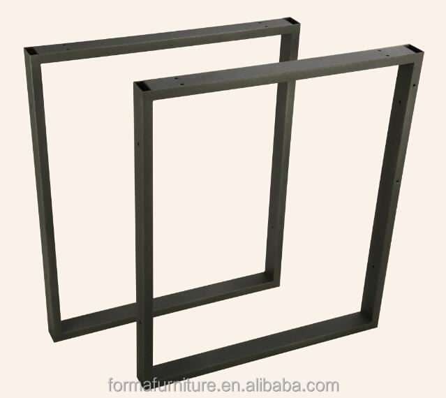 en acier inoxydable pied de table bureau pied de table. Black Bedroom Furniture Sets. Home Design Ideas