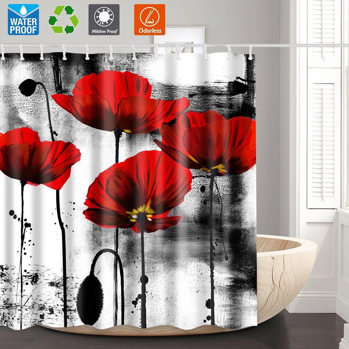 Cheap White Flower Shower Curtain Find White Flower Shower