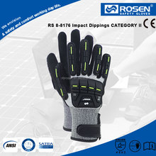 RS SAFETY high quality knitting wrist hand protection en388 anti cut work glove cut