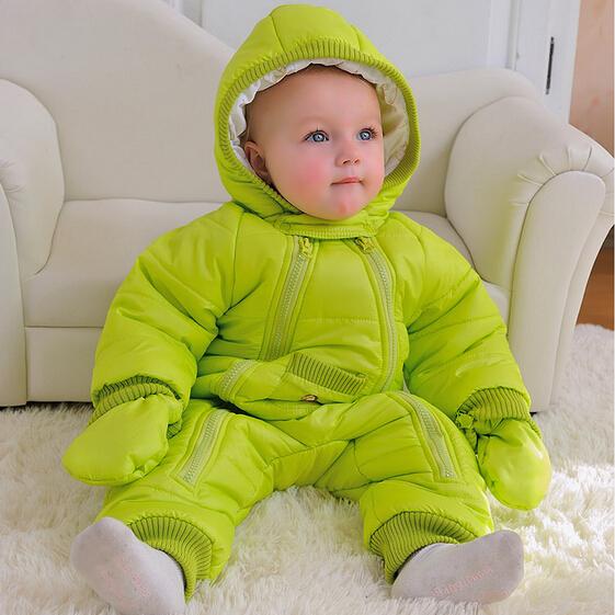 Бесплатная доставка! 2015 Новый стиль зима осень новорожденный snowsuit, Ребенка зимой комбинезоны, Теплая куртка, Детские девушка snowsuit