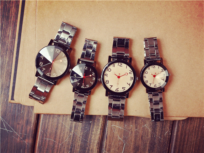 2018 dropshipping most popular in stock  couple wrist watch for lovers