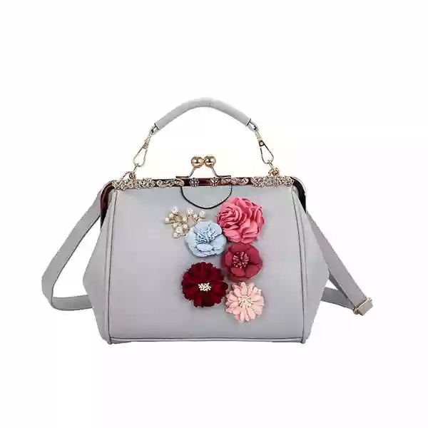 fj36 017 china suppliers oem white pu laser bag flower embroidered ... f4ef6d020940e
