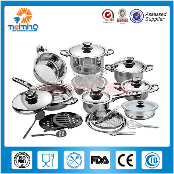 29pcs stainless steel cookware <strong>set</strong> with temper control knob