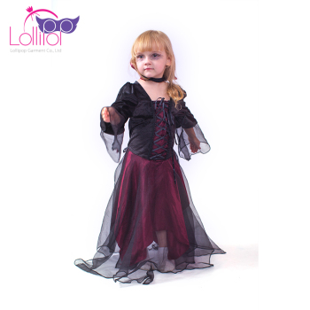 2017 girls popular kids halloween costumes long halloween vampire dress